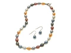 Multicolor Pear Necklace & Earring Set