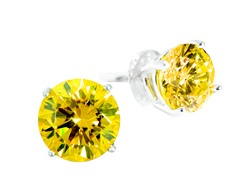 SS Yellow 1cttw Earring