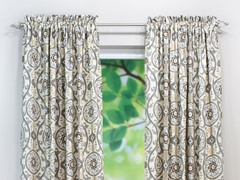 Oh Suzani Rod Pocket Curtain Panel-Metal-3 Lengths