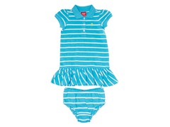 Turquoise Striped Polo Dress (2T)