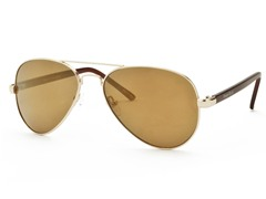 Perry Ellis Aviator 8 Gold/Brown