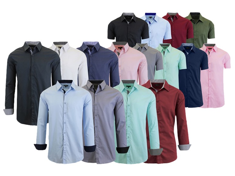 GBH Mens Assorted Dress Shirts 4 Pk