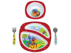Sir Prance-A-Lot 4-Piece Feeding Set