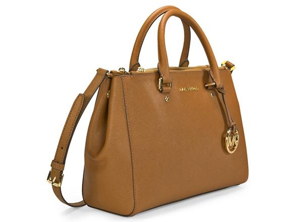Большая сумка Global Accessories коньячного цвета из