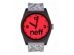 Neff Daily Helvetica Watch-KRK/Black/Red