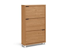 Simms Maple Shoe Cabinet-Three Drawer