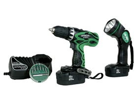 Hitachi DS18DVF3 18 Volt Drill with Flashlight