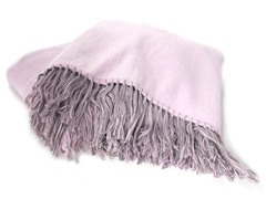 Bamboo Viscose Throw - Gray/Lavender
