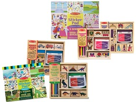 Melissa & Doug Stamps & Stickers Bundle Your Choice