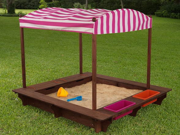kidkraft outdoor sandbox with canopy 2 colors kids toys