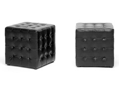 Siskal Cube Ottoman Set of 2 - Black
