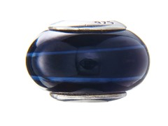 Dark Blue & Light Blue Glass Bead