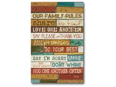 Our Family Canvas Wall Art