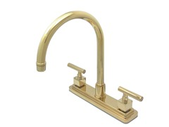 Claremont Kitchen Faucet, Polished Brass