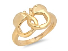 18kt Gold Plated Handcuff Ring