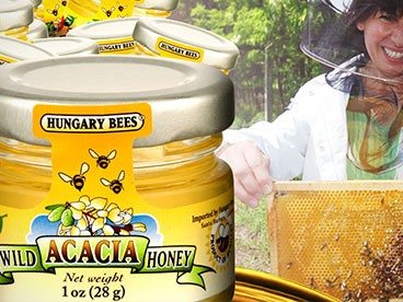 Hungary Bees Acacia Honey 1oz Jars