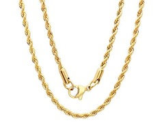 18kt Gold Plated SS Rope Chain