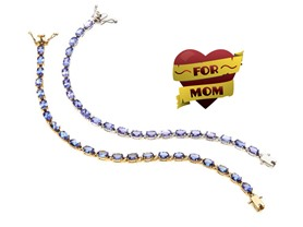Genuine Tanzanite Tennis Bracelets,10cttw -2 Choices