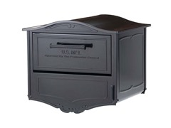 Geneva Locking Mailbox with Post and Cover, Black