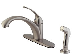 Vantage Kitchen Faucet and Sprayer, Satin Nickel