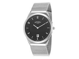 Rotary Men's Thin Watch - Black or White
