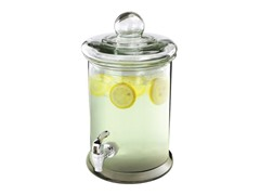 1.3 Gallon Glass Round Beverage Dispenser