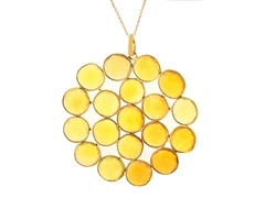 18k Gold Plated SS Citrine Necklace