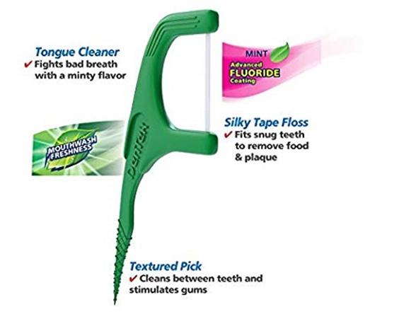 Dentek Fresh Clean Floss Picks, 75 Ct
