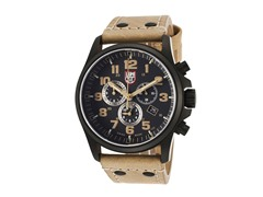 Men's Chronograph w/ Tan Leather Band