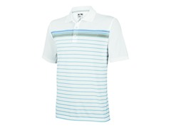 adidas Men's ClimaCool Stripe Polo,Oasis