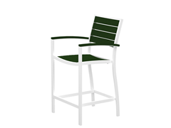 Euro Counter Chair, White/Green