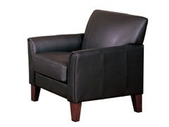 Dk Brown Faux Leather Chair