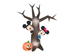 Airblown Mickey & Minnie Halloween Scene