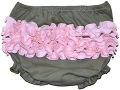 Ruffled Bloomer - Grey/Pink