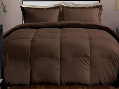 800TC Down Alternative Comforter-Chocolate-3 Sizes