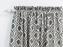 Nichole Rod Pocket Curtain Panel - Grey - 3 Lengths