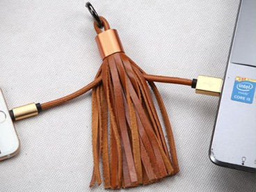 Fringe Lightning USB Cable Tassel 2 Pack