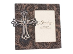 Stonebriar Jeweled Cross 4x6 Photo Frame