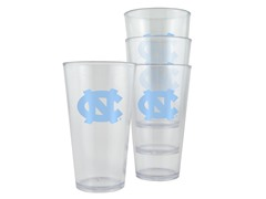N Carolina Plastic Pint Glasses 4-Pk