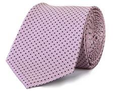 Silk Tie, Pink & Grey