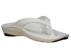 Women's Premium Flip Flop, White / Navy