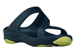 Women's Premium Z Sandal, Navy / Lime Green