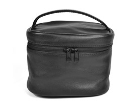 Chic Leather Cosmetic Bag