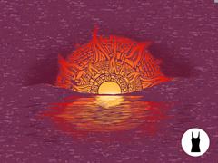 Aztec Sunset Tri-Blend Tank