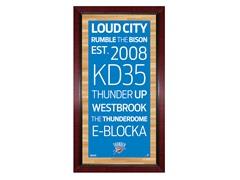 """Oklahoma City Thunder 16"""" x 32"""" Sign"""