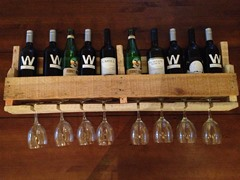 Reclaimed Wooden Wine Rack - Natural
