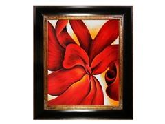 O'Keeffe - Red Cannas : 20X24