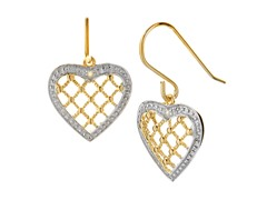 18k Gold Plated 2-Tone Openwork Earrings