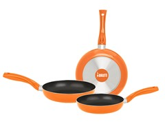 Bialetti Set Of 3 Saute Pans