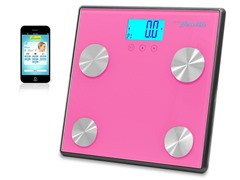 Pyle Bluetooth Digital Scale-Pink